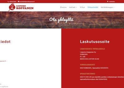 Leipomo Koppanen - yhteystiedot